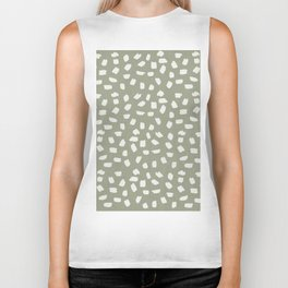 Simply Ink Splotch Lunar Gray on Green Tea Biker Tank