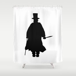 Jack the Ripper Silhouette Shower Curtain