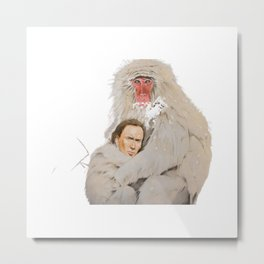 Nicolas Cage Monkey | Funny Meme | Nic Cage Face | Gift For Men, Woman Metal Print