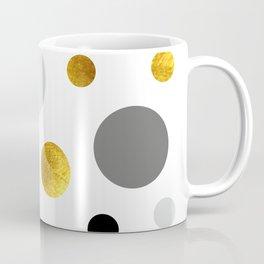 Gold, gray and black dote modern  background #society6 #decor #buyart #artprint Coffee Mug