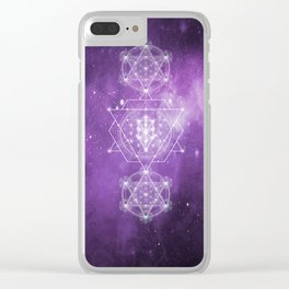 Sacred Geometry - We are Stardust Clear iPhone Case