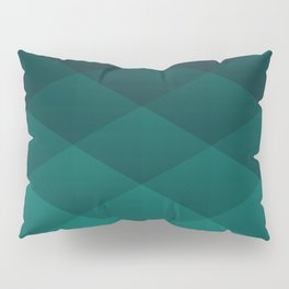 Graphic 869 // Grid Teal Fade Pillow Sham