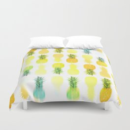 Pineapple Glow Duvet Cover