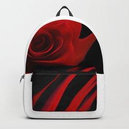 Red rose flow Backpack