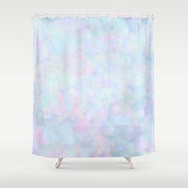 Rainbow Unicorn Pastel Fluffiness Shower Curtain