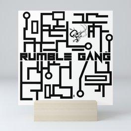 Rumble Gang Tech Black Mini Art Print