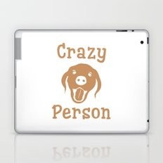 Crazy Dog Person [FOR WHITE] Laptop & iPad Skin