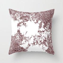 Babylon No. 1 (Detail) | Burnt sienna Throw Pillow