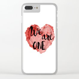 We Are One -Global Community Clear iPhone Case