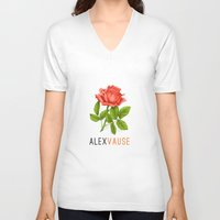 alex vause V-neck T-shirts featuring Alex Vause | OITNB by Sandi Panda