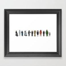 Dr Who Aliens Framed Art Print