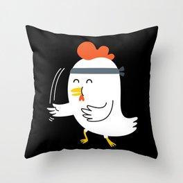 Chicken Chop Throw Pillow