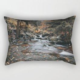 Autumn Creek - Landscape and Nature Photography Rectangular Pillow