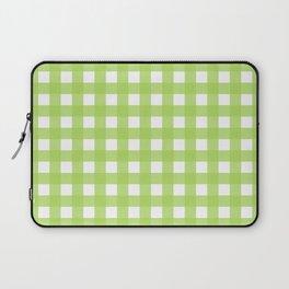 Farmhouse Gingham in Light Green Laptop Sleeve