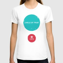 Circle of Trust vs. Cats T-shirt