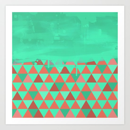 Triangle Dip Mint Art Print