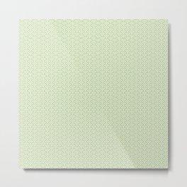 Japanese Wave Pattern in Yellow & Green Metal Print