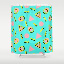 Memphis pattern 61 Shower Curtain