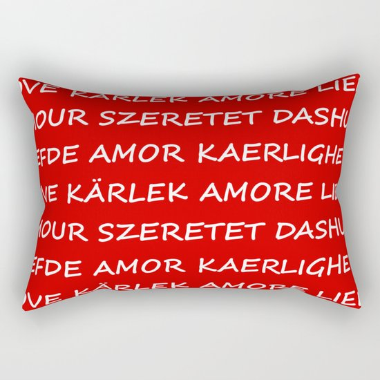Love International Rectangular Pillow