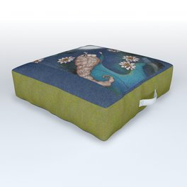 The Mermaid's Lake--Catching the Moon Outdoor Floor Cushion