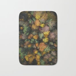 Autumn Forest - Aerial Photography Bath Mat