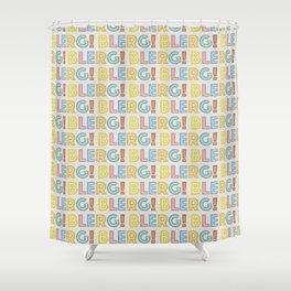 BLERG! in color Shower Curtain