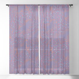 Wild Horses by Friztin - Ultra Violet Sheer Curtain