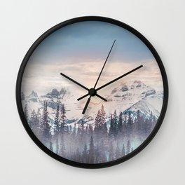 Pastel vibes 16 Wall Clock