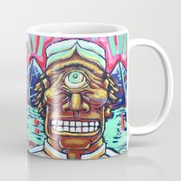 cyclops Mugs featuring CYCLOPS by M. Ali Kahn