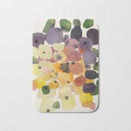 Watercolor Modern Organic Abstract Art Bath Mat