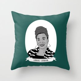Kimberlé Crenshaw Illustrated Portrait Throw Pillow