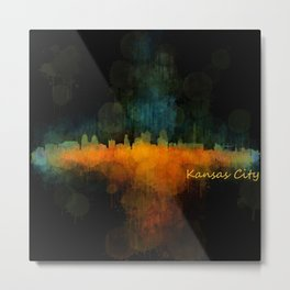 Kansas City Skyline UHq v4 Metal Print