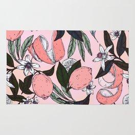 Flowering in the pink oranges Rug