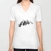 netflix V-neck T-shirts featuring Netflix is calling by Zeke Tucker