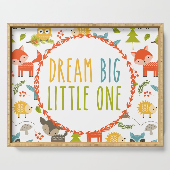 Dream Big Little One - Woodland Serving Tray