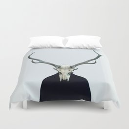 Living Skull and Horns Duvet Cover
