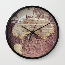 Brick Reveal Detail Wall Clock