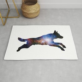 Wolf Running Rug