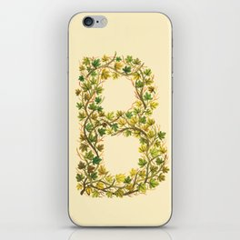 Leafy Letter B iPhone Skin