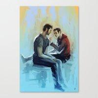 sterek Canvas Prints featuring sterek by AkiMao