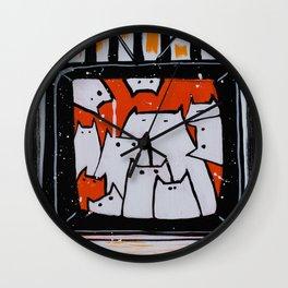 Reality Cats Wall Clock