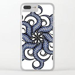 Reverse in blue Clear iPhone Case