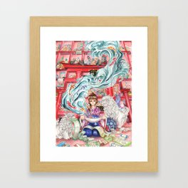 Chasing the Knowledge Framed Art Print
