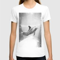 swimming T-shirts featuring Swimming by Kim Ramage