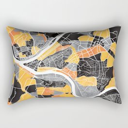Pittsburgh Map Rectangular Pillow