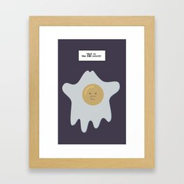 that is the EGG-spirit Framed Art Print
