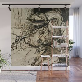 """Sigfried Kills Fafner"" by Arthur Rackham Wall Mural"