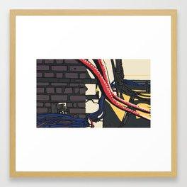 Underground, Wires Framed Art Print