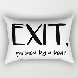 Exit, pursured by a bear - Shakespeare Rectangular Pillow
