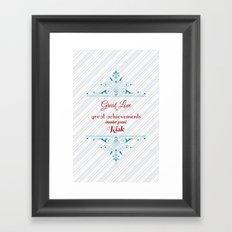 Great Love Framed Art Print